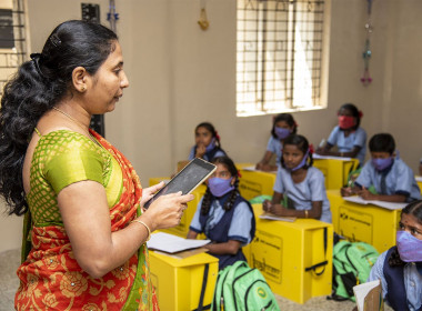 The New Indian Express | Private e-learning programme gives Karnataka government schools an edge during pandemic